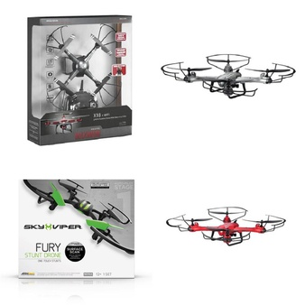 Pallet – 39 Pcs – Drones & Quadcopters – Tested ASSESSMENT REQUIRED – Propel, Sky Viper, Maximum, Skyrocket