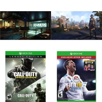 50 Pcs – Microsoft Video Games – New – Prey – Xbox One, Call Of Duty Infinite Warfare – Legacy Edition (Xb, The Elder Scrolls Online: Morrowind (Xbox One), FIFA 18 Standard Edition – Xbox One