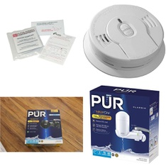 3 Pallets – 1042 Pcs – Smoke Alarms & CO Detectors, Kitchen & Dining – Customer Returns – Kidde, PUR, Kaz, Great Value