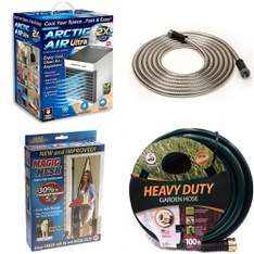 3 Pallets - 280 Pcs - Humidifiers / De-Humidifiers, Accessories, Hardware, Gardening Hand Tools - Customer Returns - As Seen On TV, Swan, FLEX-ABLE, GreenWorks