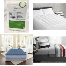 Pallet – 41 Pcs – Covers, Mattress Pads & Toppers, Comforters & Duvets – Customer Returns – Mainstays, Beautyrest, Mainstay's