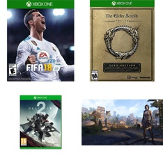 20 Pcs – Microsoft Video Games – Used, New – FIFA 18 Standard Edition – Xbox One, Destiny 2 (Xbox One), The Elder Scrolls Online: Morrowind (Xbox One), The Elder Scrolls