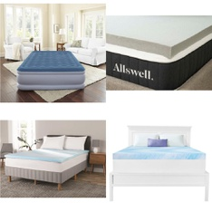 Pallet – 25 Pcs – Covers, Mattress Pads & Toppers, Sheets, Pillowcases & Bed Skirts – Customer Returns – Beautyrest, Allswell, Mainstays, Mainstay's