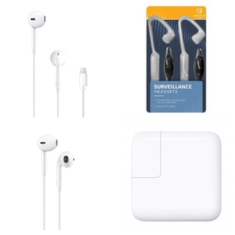 3 Pallets – 1761 Pcs – In Ear Headphones, Accessories, Other, Power Adapters & Chargers – Customer Returns – Apple, Onn, Blackweb, GE