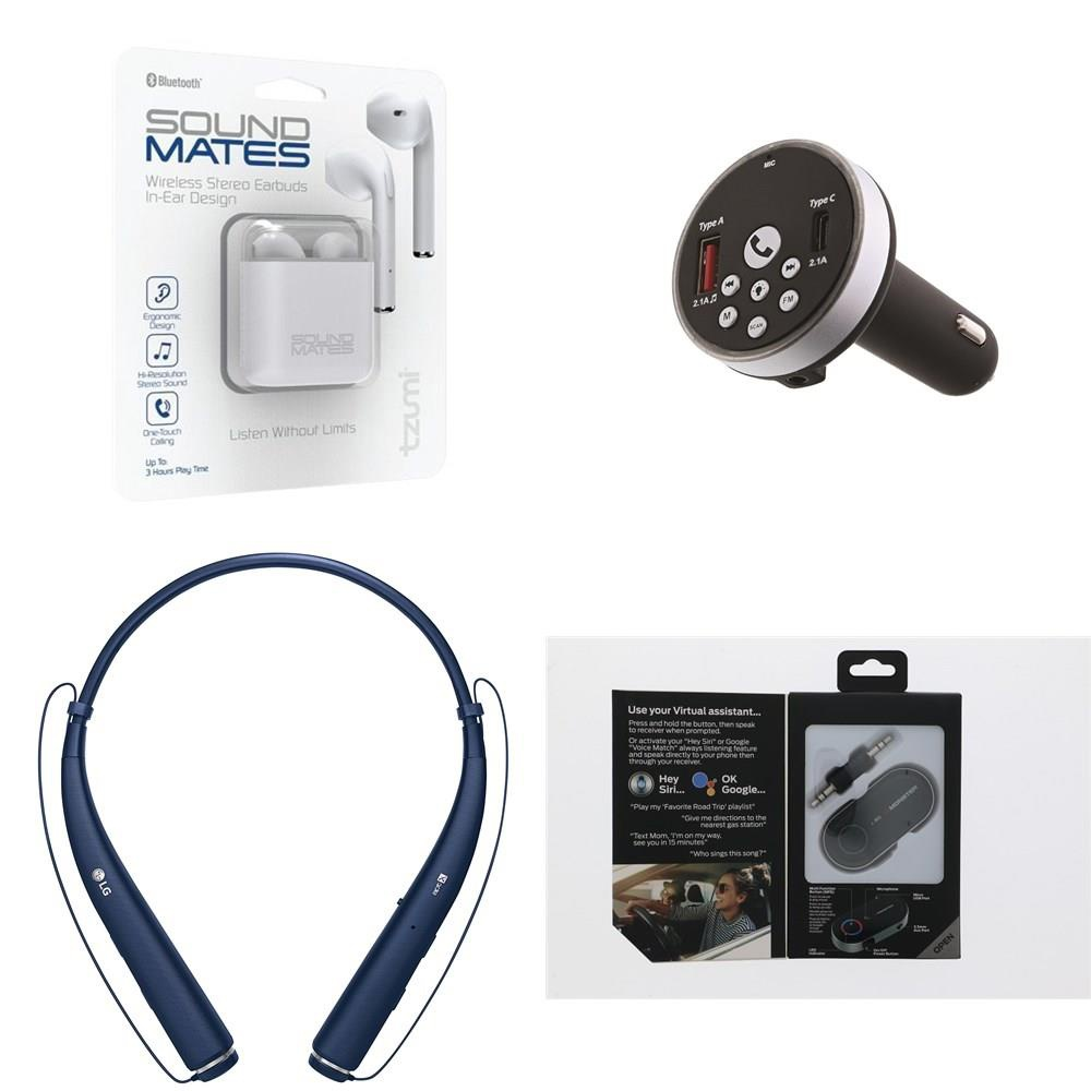 Pallet - 649 Pcs - In Ear Headphones, Accessories, Computer Software,  Receivers, CD Players, Turntables - Customer Returns - Tzumi, Monster, LG,  Anker