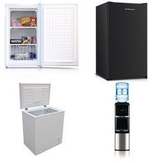 Pallet - 6 Pcs - Bar Refrigerators & Water Coolers - Customer Returns - Artic King, Arctic King, Primo, Hamilton Beach