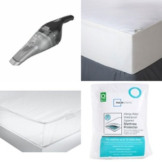 3 Pallets - 82 Pcs - Covers, Mattress Pads & Toppers, Comforters & Duvets, Vacuums - Customer Returns - Mainstay's, BLACK & DECKER, American Textile, Aller-Ease
