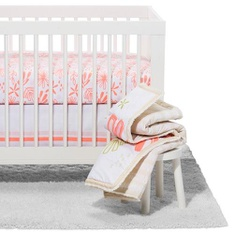 71 Pcs - Cloud Island Crib Bedding Set Little Sprout 4pc - Coral - New - Retail Ready