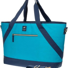 5 Pcs – Dabney Lee Insulated Picnic Tote (Blue) – New – Retail Ready
