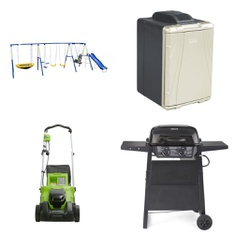Pallet - 4 Pcs - Outdoor Play, Grills & Outdoor Cooking - Customer Returns - Sportspower, Backyard Grill, GreenWorks, Coleman