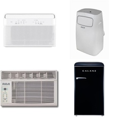 Pallet – 9 Pcs – Air Conditioners, Microwaves – Customer Returns – RCA, Galanz, Danby, Igloo