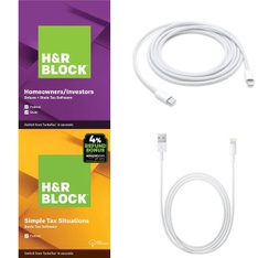 3 Pallets – 1754 Pcs – Other, Software, Accessories, Over Ear Headphones – Customer Returns – Apple, H&R Block, Onn, Blackweb