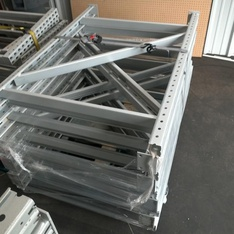 19 Pallets - 160pcs - Racking - Upright Racking Mixed Sizes - Used Fixed Assets