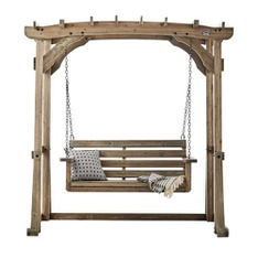 5 Pcs – Backyard Discovery 1906624 Odessa Pergola Swing, Brown – New – Retail Ready