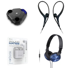 58 Pcs - Headphones & Portable Speakers - Refurbished (GRADE A, GRADE B) - Ion, Tzumi, Sony, Heyday