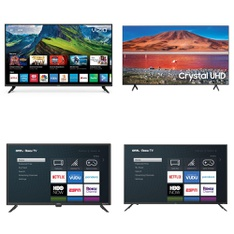 Truckload – 24 Pallets – 185 Pcs – TVs – Scrap – Samsung, VIZIO, Onn, TCL