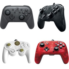 17 Pcs – Nintendo Controllers – Refurbished (GRADE A, GRADE B) – Models: Wired Fight Pad Pro Controller for Nintendo Switch, Zelda Special Edition, 500-134-NA-CM04, 500-119-NA-D1, HACAFSSKA