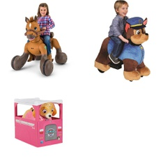 Pallet – 4 Pcs – Vehicles – Customer Returns – Paw Patrol, Kid Trax, Step2