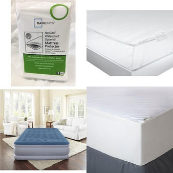 Pallet – 38 Pcs – Covers, Mattress Pads & Toppers, Comforters & Duvets, Exercise & Fitness – Customer Returns – Mainstay's, Mainstays, Aller-Ease, Beautyrest