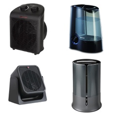 Pallet - 64 Pcs - Heaters, Humidifiers / De-Humidifiers - Customer Returns - Honeywell, Mainstays, Mainstay's, Konwin