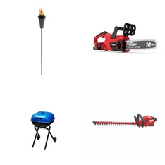 6 Pallets - 145 Pcs - Patio & Outdoor Lighting / Decor, Trimmers & Edgers, Accessories, Grills & Outdoor Cooking - Customer Returns - Hyper Tough, LAMPLIGHT, Mainstay's, Americana
