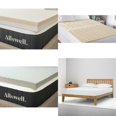 Pallet – 10 Pcs – Covers, Mattress Pads & Toppers – Customer Returns – Mainstay's, Allswell