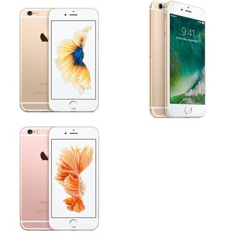 5 Pcs – Apple iPhone 6S – Refurbished (GRADE B – Unlocked) – Models: 3A510LL/A, 3A511LL/A, MKRJ2LL/A