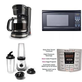 Pallet – 50 Pcs – Food Processors, Blenders, Mixers & Ice Cream Makers, Toasters & Ovens, Single Cup Brewers – Customer Returns – Toastmaster, Hamilton Beach, Sunbeam, Starfrit