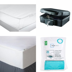 3 Pallets - 127 Pcs - Covers, Mattress Pads & Toppers, Safes, Bedding Sets - Customer Returns - Mainstay's, Aller-Ease, American Textile, SentrySafe