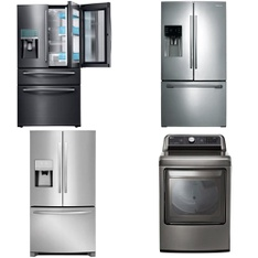 Lowes - 7 Pcs - Laundry, Refrigerators, Dishwashers - Customer Returns - LG, Samsung, General Electric, Frigidaire