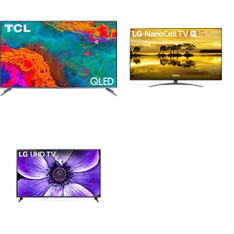 24 Pcs – LED/LCD TVs – Refurbished (GRADE A) – TCL, LG