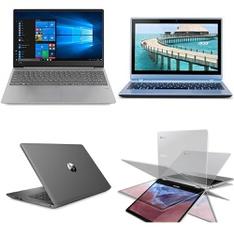 12 Pcs – Laptops – Refurbished (GRADE B, GRADE C) – LENOVO, HP, ACER, Samsung