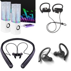 3 Pallets – 625 Pcs – In Ear Headphones, Portable Speakers, Over Ear Headphones, Boombox – Customer Returns – Blackweb, Merkury Innovations, Onn, iFrogz