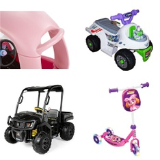 Pallet – 6 Pcs – Vehicles – Customer Returns – MGA Entertainment, Peg Perego, Disney, Paw Patrol