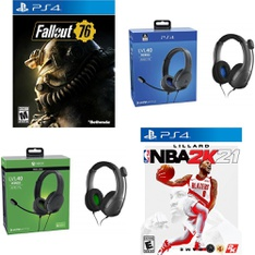 Pallet - 626 Pcs - Sony, Audio Headsets, Batteries & Chargers - Customer Returns - PDP, Bethesda Softworks, Electronic Arts, 2K